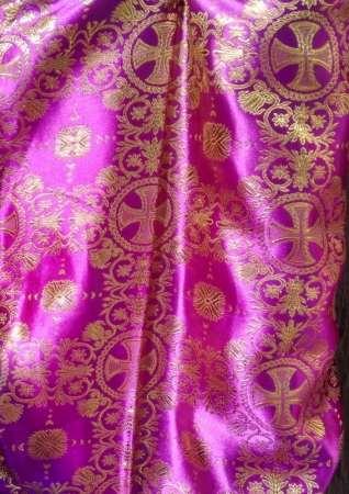 Парча (церковная) LP-11-9 ФИОЛЕТОВЫЙ золото