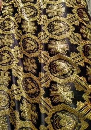 Парча (церковная) DA-391-7 ЧЕРНЫЙ золото