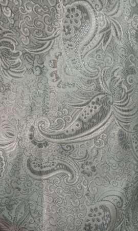 Парча с рисунком LP-05-01 Белая с серебром