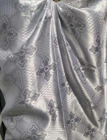 Парча (церковная) LP-12-8 БЕЛАЯ серебро