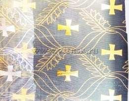 Капрон золото-серебро (органза) КРЕСТ
