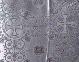 Парча (церковная) LP-11-6 БЕЛАЯ серебро