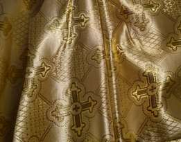 Парча (церковная) LP-12-6 ШАМПАНЬ золото