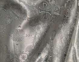 Парча (церковная) LP-11-52 БЕЛАЯ серебро
