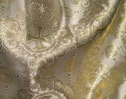 Парча (церковная) LP-11-51 ШАМПАНЬ золото