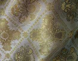 Парча (церковная) LP-15-6 Шампань с золотом