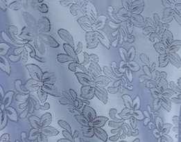 Парча набивная QS-D-07 БЕЛЫЙ (серебро)