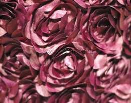 Атлас с нашивными розами (крупные) БОРДО №13