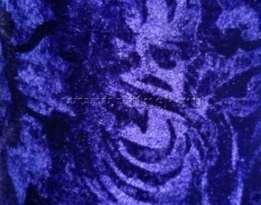 Бархат с рисунком стрейч 5,5 мп/кг (набивной, велюр) СИНИЙ ( рис Е )