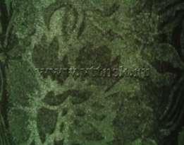 Бархат с рисунком стрейч 5,5 мп/кг (набивной, велюр) ЗЕЛЁНЫЙ ( рис Е )