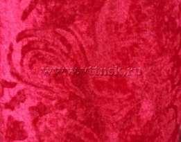 Бархат с рисунком стрейч 5,5 мп/кг (набивной, велюр) МАЛИНОВЫЙ ( рис Е )